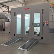 Demountable pressurized Spray booths for bodywork