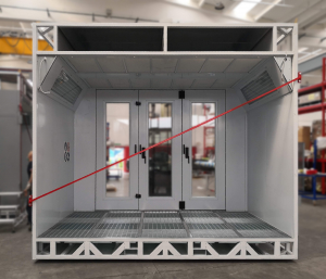 Demountable pressurized Spray booths for bodywork