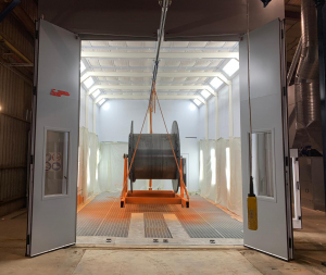 Spray booths for large components