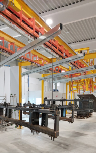 Automatic power&free overhead conveyor