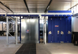 Ecojet washing tunnel and curing oven